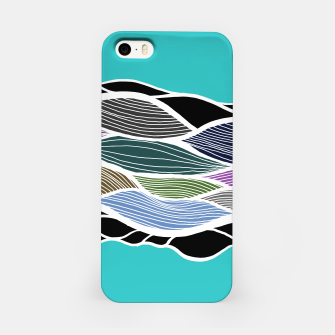 Miniatur Waving Harmonic Color Fields on Light Turquise iPhone Case, Live Heroes