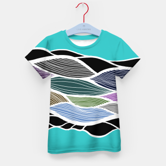 Thumbnail image of Waving Harmonic Color Fields on Light Turquise Kid's t-shirt, Live Heroes