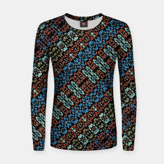 Thumbnail image of Multicolored Mosaic Print Pattern Women sweater, Live Heroes