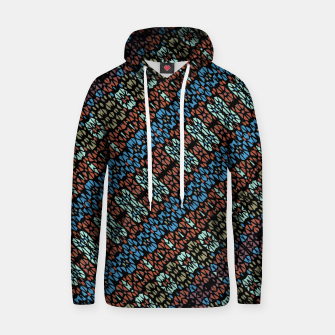 Thumbnail image of Multicolored Mosaic Print Pattern Hoodie, Live Heroes