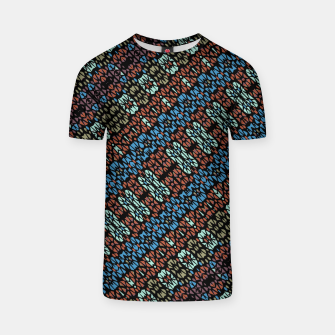 Thumbnail image of Multicolored Mosaic Print Pattern T-shirt, Live Heroes