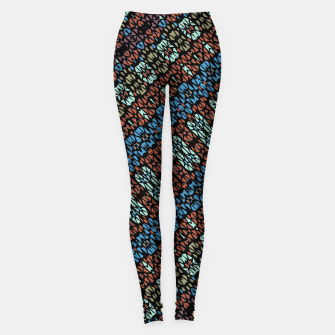 Thumbnail image of Multicolored Mosaic Print Pattern Leggings, Live Heroes
