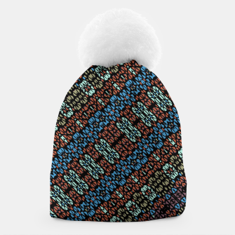 Thumbnail image of Multicolored Mosaic Print Pattern Beanie, Live Heroes