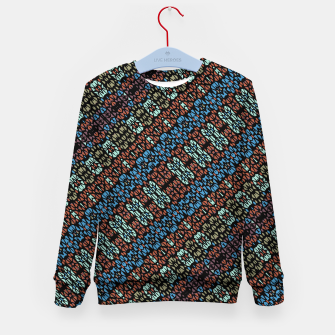 Thumbnail image of Multicolored Mosaic Print Pattern Kid's sweater, Live Heroes