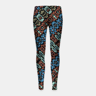 Thumbnail image of Multicolored Mosaic Print Pattern Girl's leggings, Live Heroes
