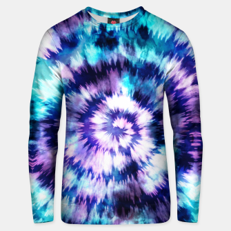 Thumbnail image of Blue and lilac tie dye spiral Sudadera unisex, Live Heroes