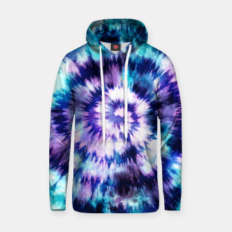 Thumbnail image of Blue and lilac tie dye spiral Sudadera con capucha, Live Heroes