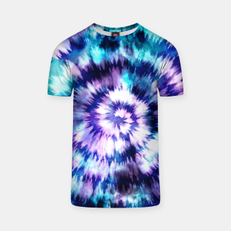 Thumbnail image of Blue and lilac tie dye spiral Camiseta, Live Heroes