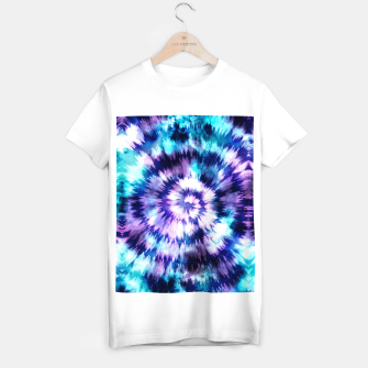 Thumbnail image of Blue and lilac tie dye spiral Camiseta Regular, Live Heroes
