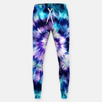 Thumbnail image of Blue and lilac tie dye spiral Pantalones de chándal , Live Heroes
