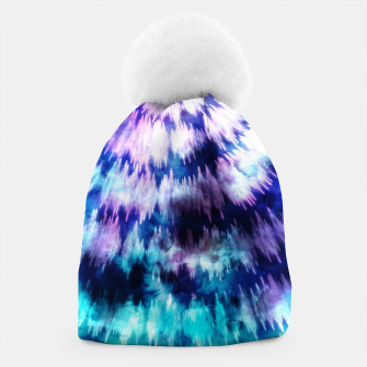 Thumbnail image of Blue and lilac tie dye spiral Gorro, Live Heroes