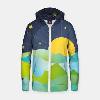 Thumbnail image of The Sun and the Stars Zip up hoodie, Live Heroes