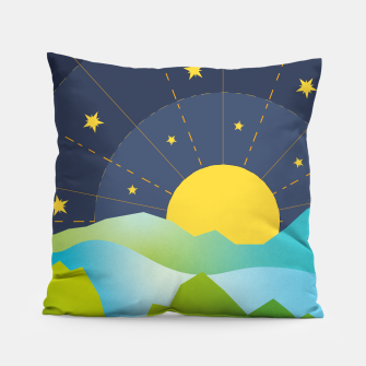 Thumbnail image of The Sun and the Stars Pillow, Live Heroes