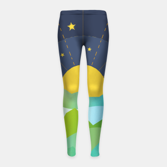 Thumbnail image of The Sun and the Stars Girl's leggings, Live Heroes