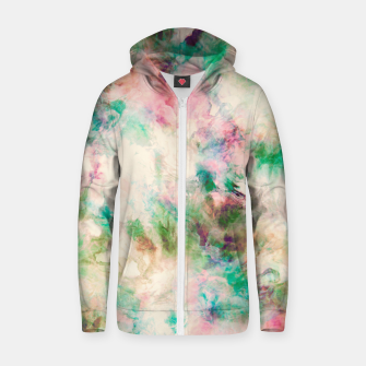 Thumbnail image of Modern marble tie dye 96 Sudadera con capucha y cremallera , Live Heroes