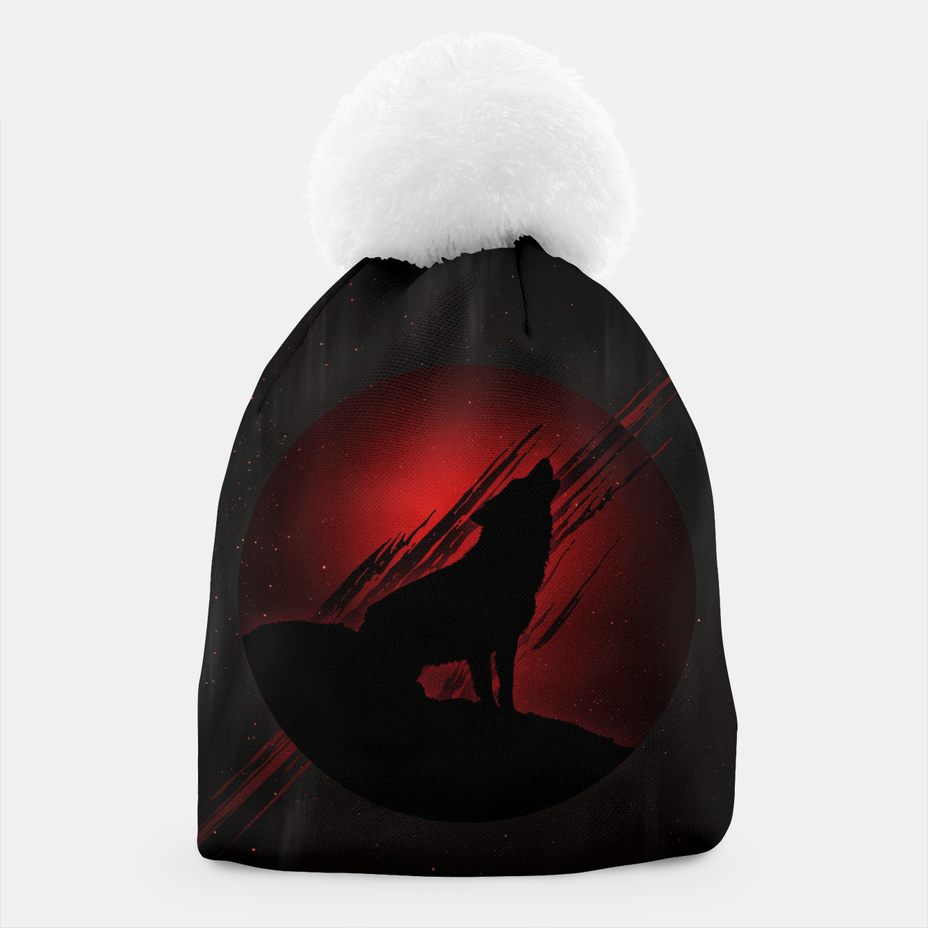 Image of Wolf with Blood Moon Mütze - Live Heroes