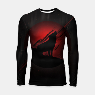 Thumbnail image of Wolf with Blood Moon Longsleeve rashguard, Live Heroes