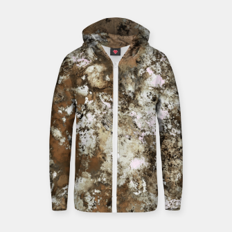 Thumbnail image of Frosted sand Zip up hoodie, Live Heroes