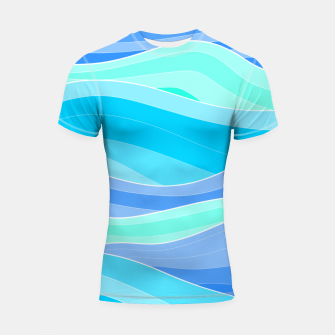 Thumbnail image of The Blue Sea Waves Shortsleeve rashguard, Live Heroes