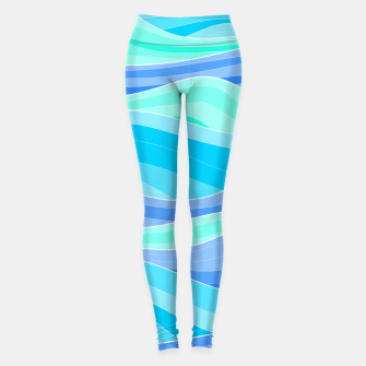 Thumbnail image of The Blue Sea Waves Leggings, Live Heroes