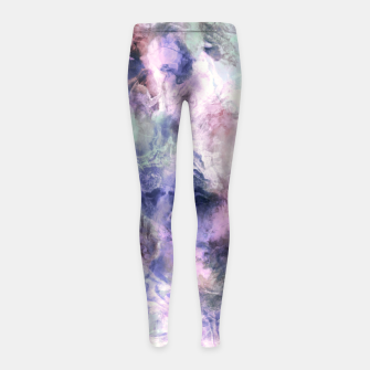 Tie dye pastel colors Leggings para niña miniature