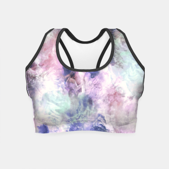 Tie dye pastel colors Crop Top miniature