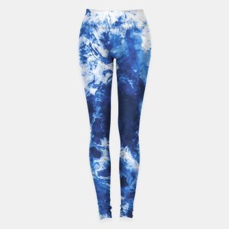 Indigo tie dye splatter Leggings miniature