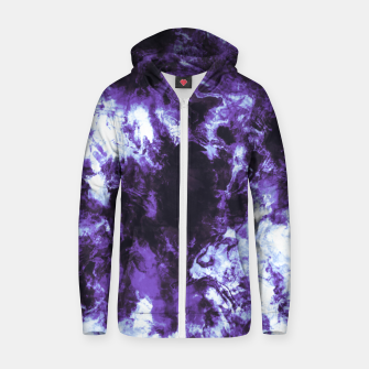 Thumbnail image of Lilac tie dye splatter Sudadera con capucha y cremallera , Live Heroes