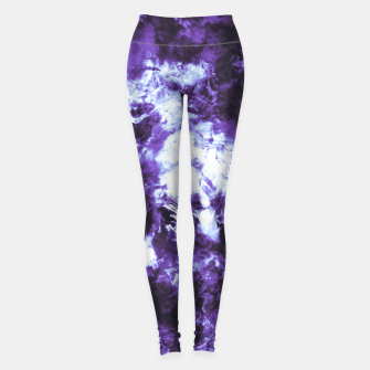 Lilac tie dye splatter Leggings miniature