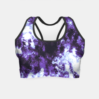 Lilac tie dye splatter Crop Top miniature