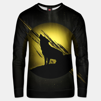 Miniature de image de Wolf with Golden Moon Unisex sweatshirt, Live Heroes