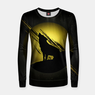 Miniature de image de Wolf with Golden Moon Frauen sweatshirt, Live Heroes
