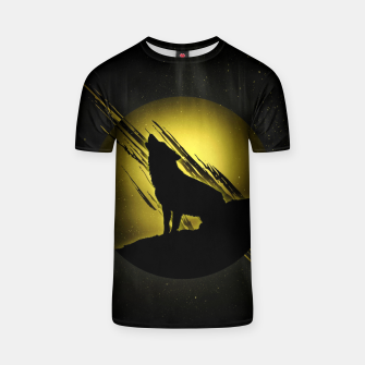 Miniature de image de Wolf with Golden Moon T-Shirt, Live Heroes
