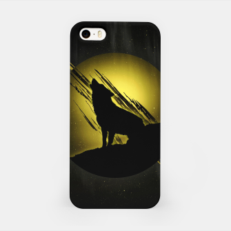 Miniature de image de Wolf with Golden Moon iPhone-Hülle, Live Heroes