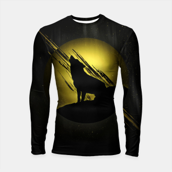 Thumbnail image of Wolf with Golden Moon Longsleeve rashguard, Live Heroes