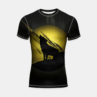 Miniature de image de Wolf with Golden Moon Shortsleeve rashguard, Live Heroes