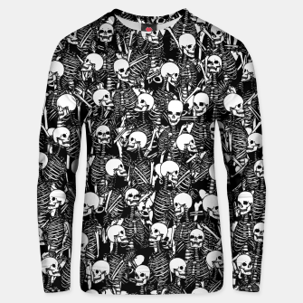 Miniatur Restless Audience Gothic Skeleton Halloween Horror Pattern Unisex sweater, Live Heroes