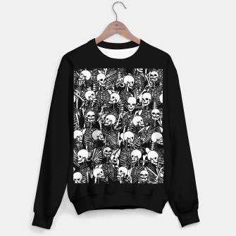 Restless Audience Gothic Skeleton Halloween Horror Pattern Sweater regular Bild der Miniatur