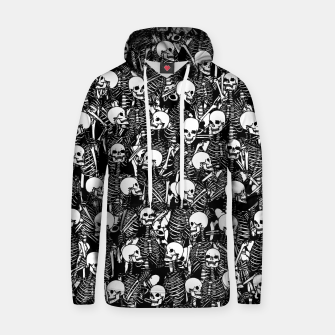 Miniatur Restless Audience Gothic Skeleton Halloween Horror Pattern Hoodie, Live Heroes