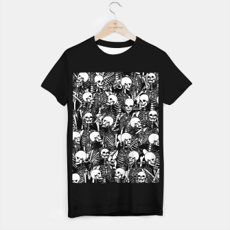 Restless Audience Gothic Skeleton Halloween Horror Pattern T-shirt regular Bild der Miniatur