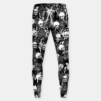 Miniatur Restless Audience Gothic Skeleton Halloween Horror Pattern Sweatpants, Live Heroes