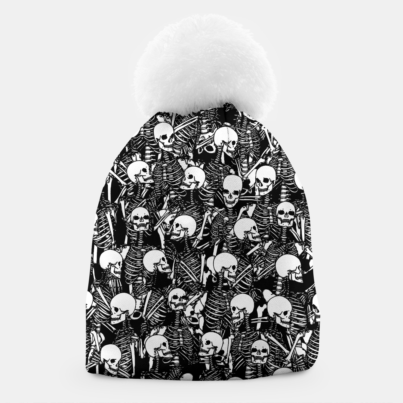 Foto Restless Audience Gothic Skeleton Halloween Horror Pattern Beanie - Live Heroes