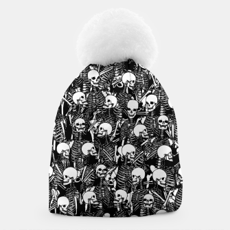 Miniatur Restless Audience Gothic Skeleton Halloween Horror Pattern Beanie, Live Heroes