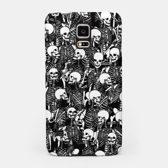 Miniatur Restless Audience Gothic Skeleton Halloween Horror Pattern Samsung Case, Live Heroes