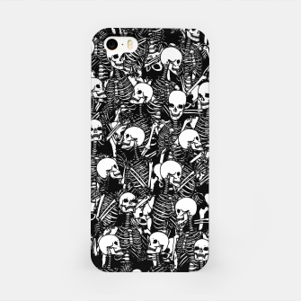 Miniatur Restless Audience Gothic Skeleton Halloween Horror Pattern iPhone Case, Live Heroes