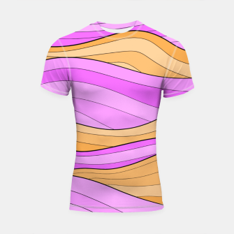 Thumbnail image of The Pink Sea Waves Shortsleeve rashguard, Live Heroes