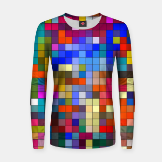 Thumbnail image of COLOURED SQUARED Women sweater, Live Heroes