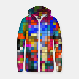 Thumbnail image of COLOURED SQUARED Zip up hoodie, Live Heroes