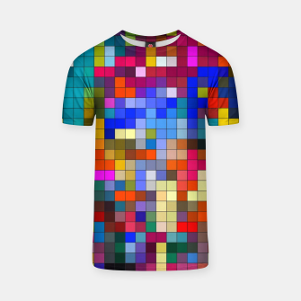 Thumbnail image of COLOURED SQUARED T-shirt, Live Heroes