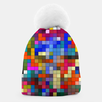 Thumbnail image of COLOURED SQUARED Beanie, Live Heroes